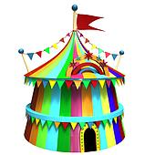 Illustration of a circus tent