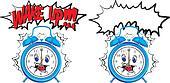 wake up - blue alarm clock
