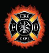 Fire Department Maltese Cross With