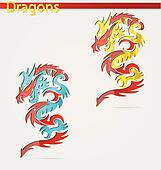 shiny and elegance religion dragon symbols