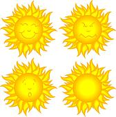 Sun faces