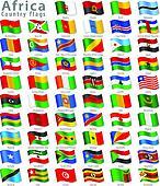 Vector African National Flag Set