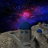 Night sky stars scene