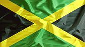 jamaica flag closeup of ruffled