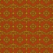 Rich Gold Brocade Damask on Rust