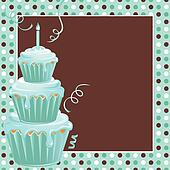 Stacked Cupcakes 1st Birthday Party