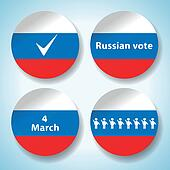 Set of russian presidential election stickers