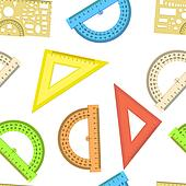Seamless wallpaper the ruler and protractor line of the triangle vector background