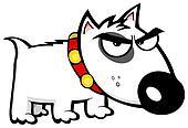 Angry Dog Bull Terrier
