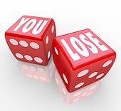 You Lose Words on Two Red Dice Failure