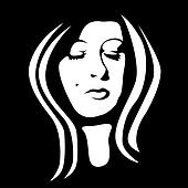 woman face black and white - illustration
