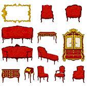 rococo furniture set