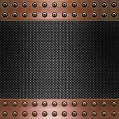 carbon fibre and copper background