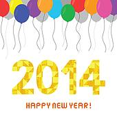Happy new year 2014 card9