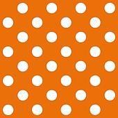 White Polka Dot on orange background