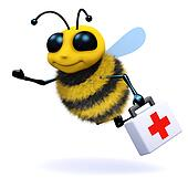 3d Bee first aid