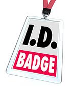 ID Identification Badge Name Tag Access Credentials