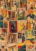 Vintage tarot cards. Fortunetelling