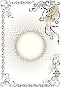 Decorative frame.Graphic drawing
