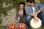 Couple with drums