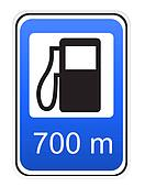 road sign refueling illustration