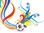 abstract artistic football explode