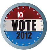 Vote 2012 Web Button with X