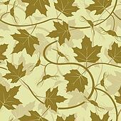 maple leaf acorn seamless background