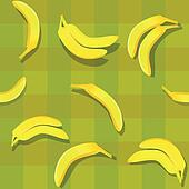 banana seamless background pattern