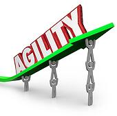 Agility Team Working Quickly Adapt Overcome Challenge