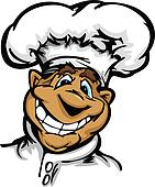 Smiling Cartoon Kitchen Chef