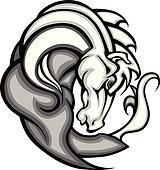 Mustang Stallion Graphic Mascot Vec
