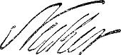 Signature of Jacques Necker (1732-1801), vintage engraving.