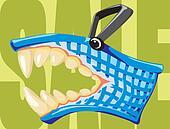 sale - furious shopping basket