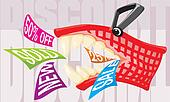 discount - mad shopping basket