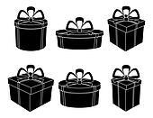 Boxes, black silhouettes