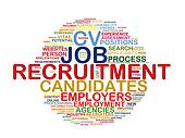 Word tags circular wordcloud of recruitment