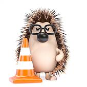 3d Hedgehog roadworks