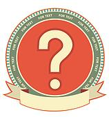 Question mark sign.Label background for design