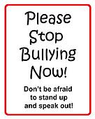 Please stop bullying sign