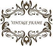 Vintage floral and foliate frame