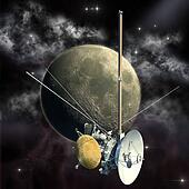 Cassini mission passing the Moon