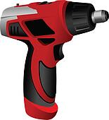 Power drill isolated on a white ba