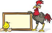 cock advertises goods