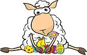 surprised sheep - happy Easter