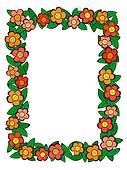 cartoon flower pattern frame