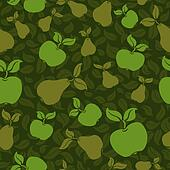 apple pear seamless background