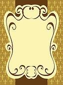 vintage label frame pattern