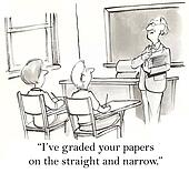 Straight paper grade