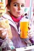 Little girl eating her lunch